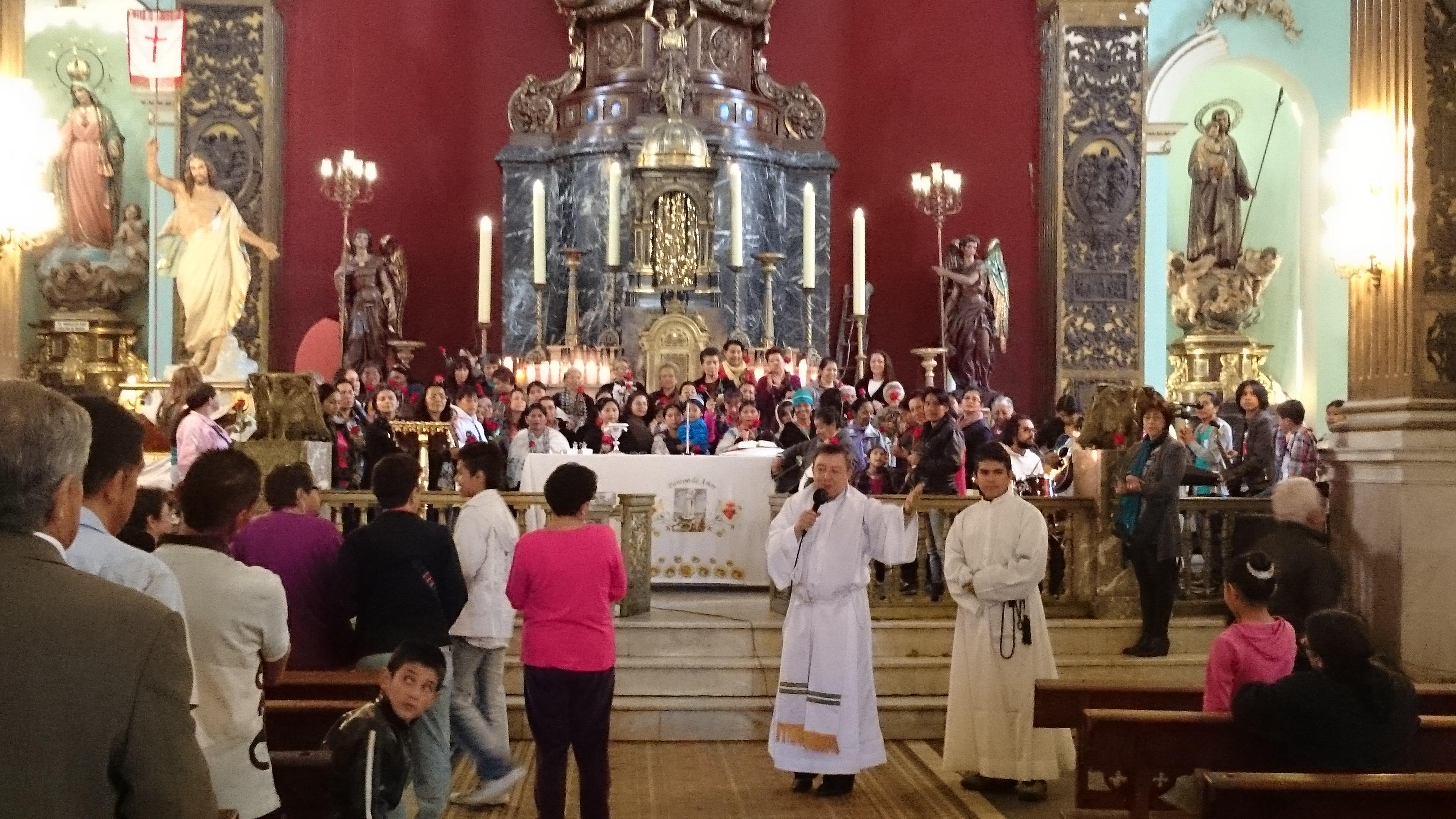 Misa del Domingo en Voto Nachional Bogotá