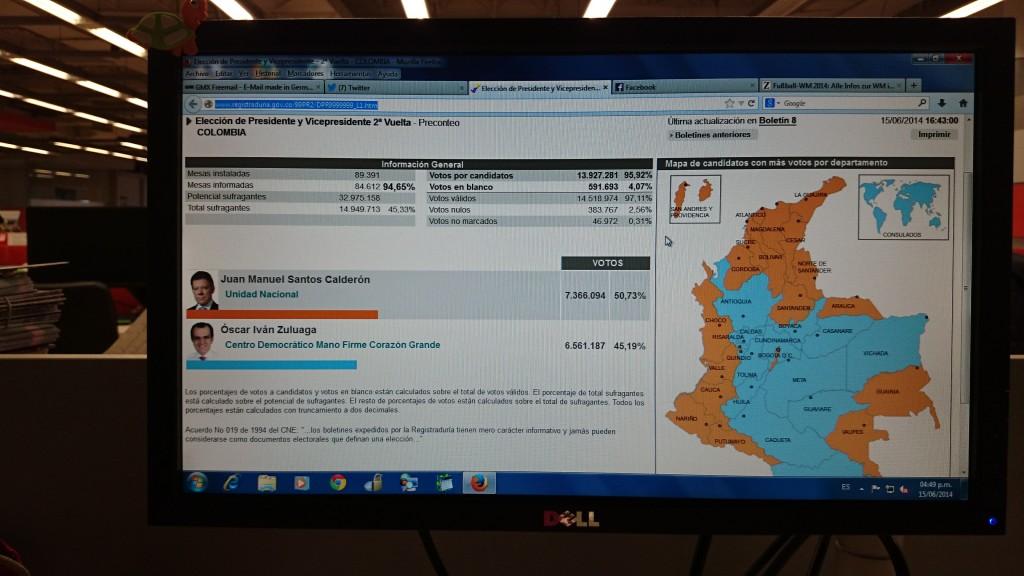 Präsidentschaftswahl Kolumbien