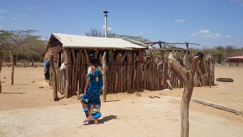 In einer Wayúu-Siedlung