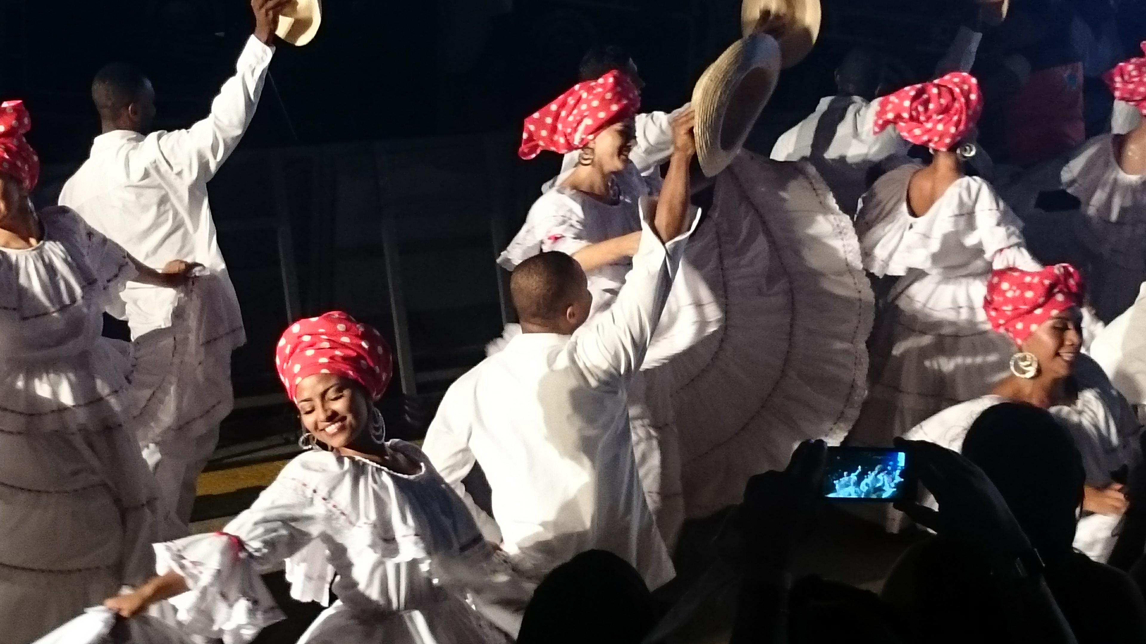 Currulao-Tänzer auf dem Festival Petronio Álvarez in Cali, August 2016